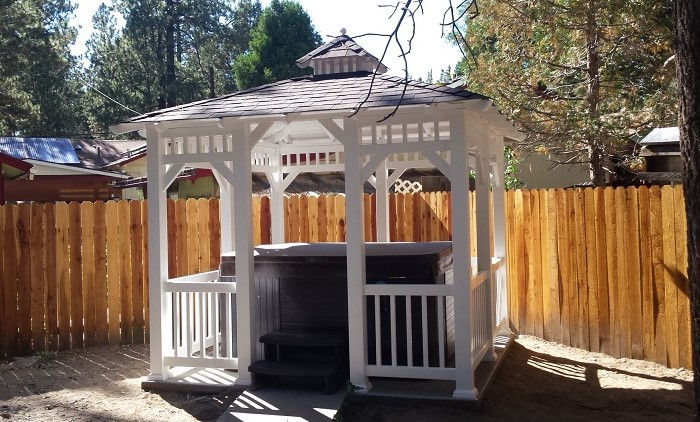 Vinyl gazebo sale kits or installed in southern california for Cal spa gazebo