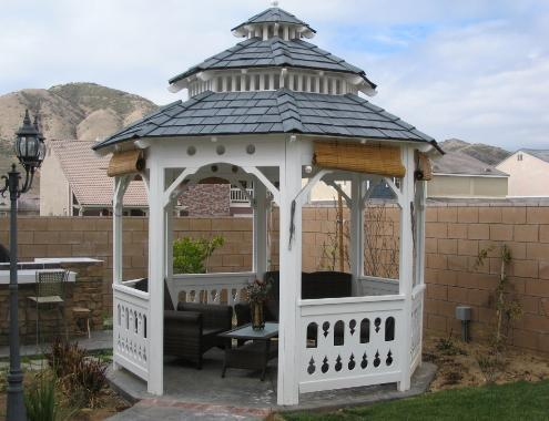 Mediterranean Style Gazebo 10 ft. Double Roof Pagoda