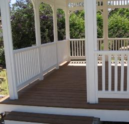 14 ft. Square Gazebo on a Composite Wood Deck