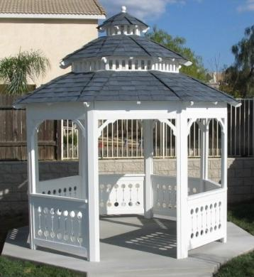 Solid Roof Californian Gazebo, Pagoda Roof, Double Roof,Tri Level 10 foot