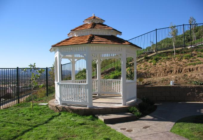 The Colonial Gazebo 10' ft. Cedar Shake Roof Order Today