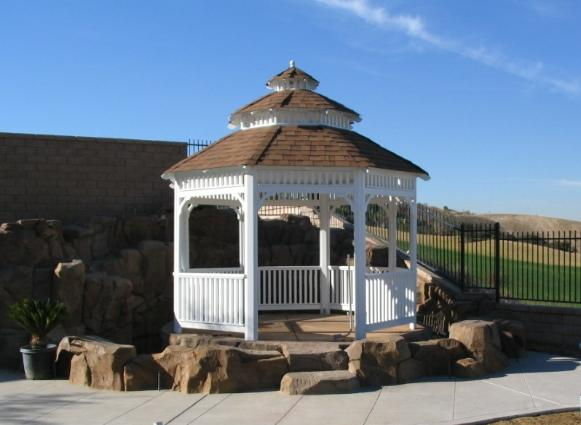Solid Roof Gazebo Picture Gazebo Builders Southern California