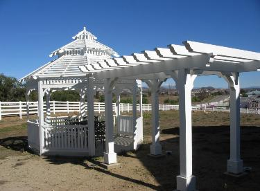 The Californian 12' Wood Gazebo With Trellis Click to Enlarge Picture