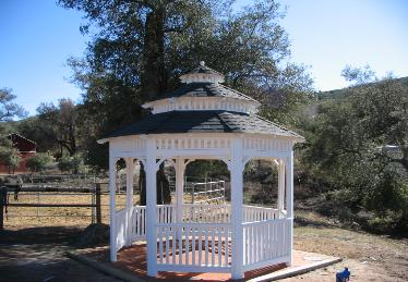 Composition Roof Octagon Double Roof Gazebo with Capola